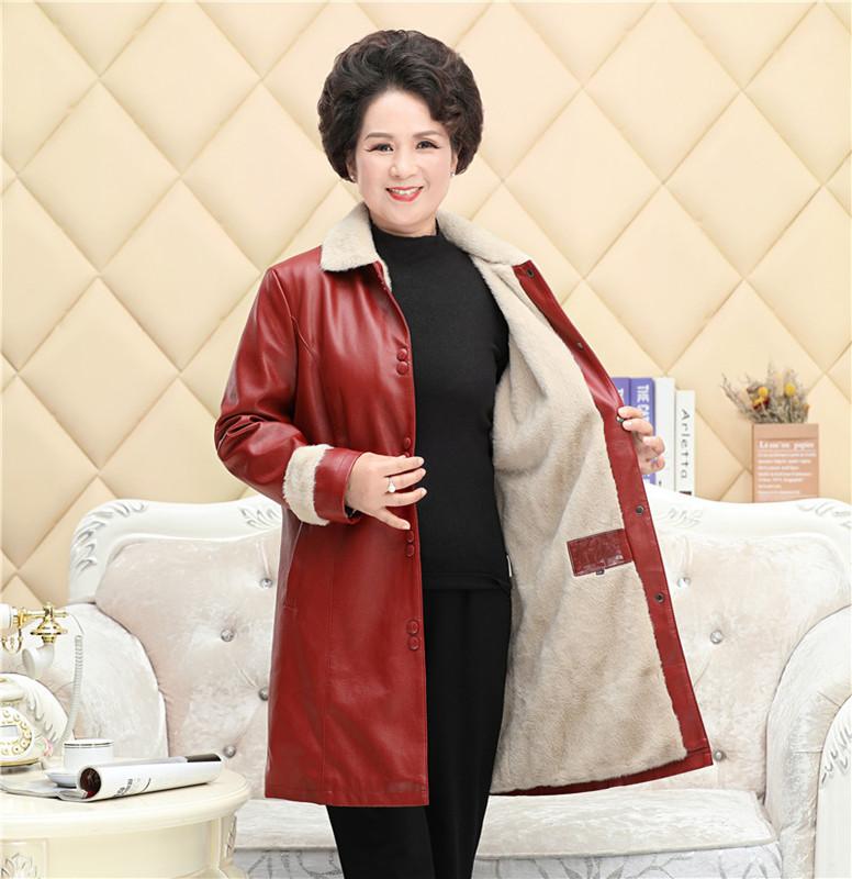 红色皮衣 20女式皮衣外套时尚红色皮衣女短款妈妈装pu皮衣机车皮衣加绒加厚_推荐淘宝好看的红色皮衣