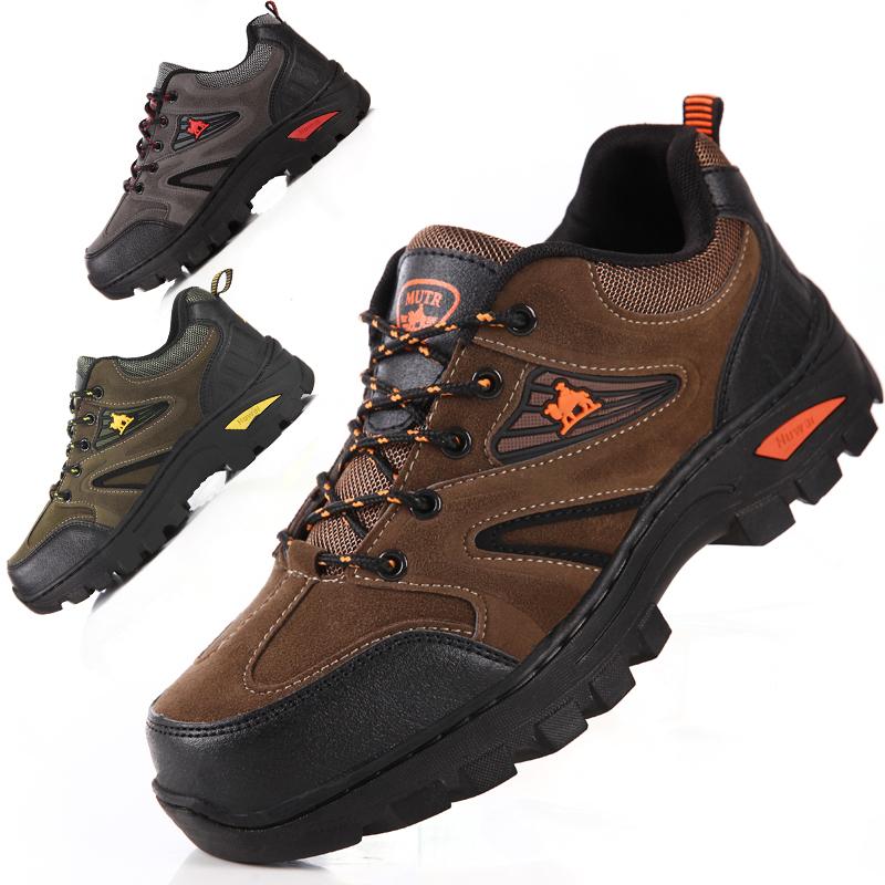登山鞋 登山鞋男士冬季户外休闲鞋加绒保暖耐磨野外徒步工作鞋慢跑旅游鞋_推荐淘宝好看的登山鞋