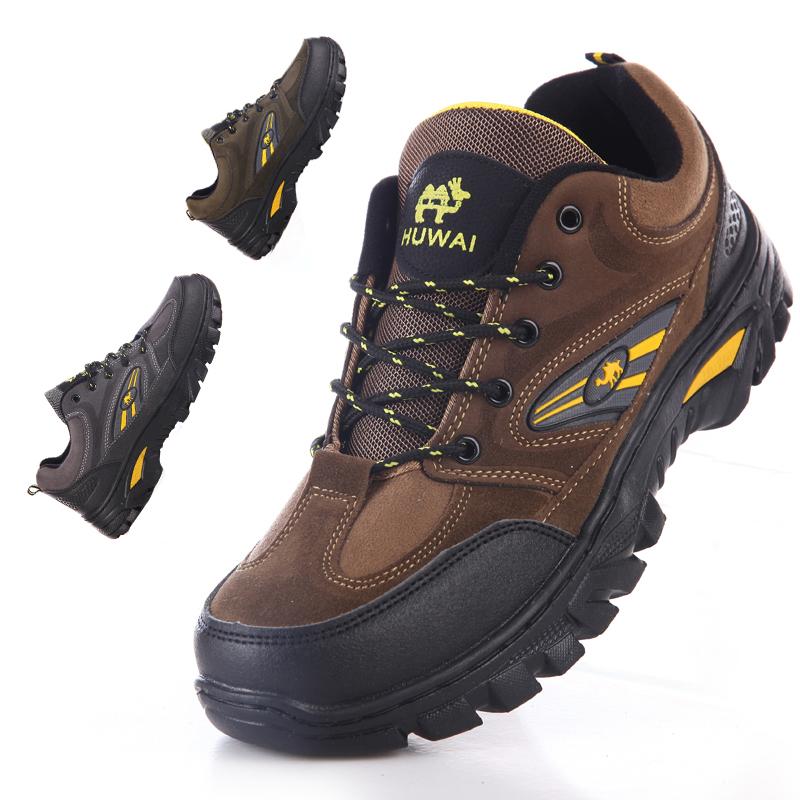 登山鞋 冬季登山鞋男户外鞋休闲旅游鞋防滑耐磨工作鞋野外慢跑鞋系带徒步_推荐淘宝好看的登山鞋