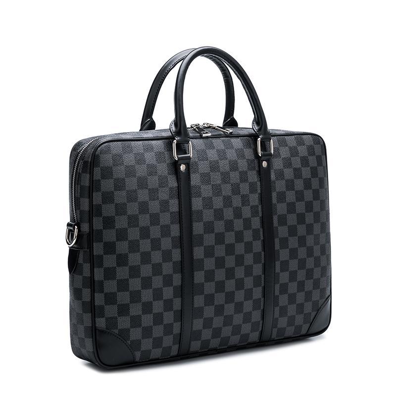 lv手提包 GU ZHI LV欧美大牌时尚新款男公文包笔记本电脑包商务手提包单肩_推荐淘宝好看的lv手提包