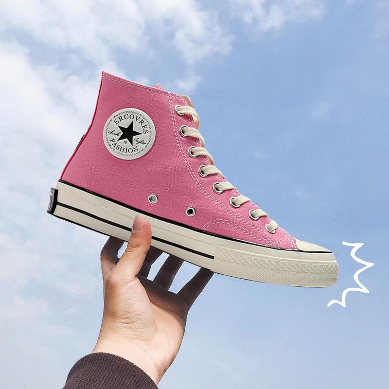 粉红色高帮鞋 得分王旗舰店官网正品尔匡威莱斯粉红色鞋男1970s帆布鞋高帮女鞋_推荐淘宝好看的粉红色高帮鞋