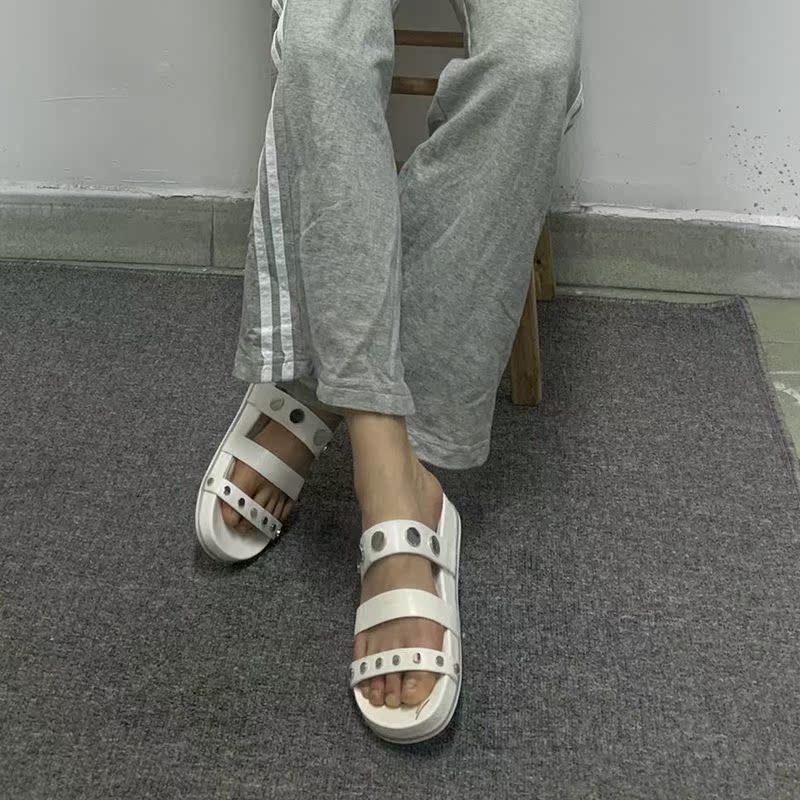 真皮罗马鞋 外贸女鞋出口夏季女真皮罗马鞋平底平跟纯色舒适露趾凉鞋包邮_推荐淘宝好看的真皮罗马鞋