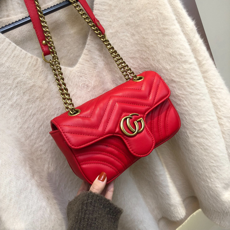 粉红色链条包 小香包包女包2020新款夏季网红洋气小包女斜挎ck链条气质百搭潮包_推荐淘宝好看的粉红色链条包
