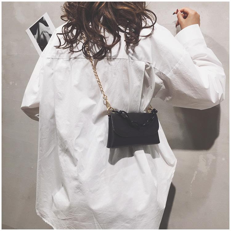 黑色迷你包 洋气包包女包2021新款迷你手机小方包黑色链条百搭腰包单肩斜挎包_推荐淘宝好看的黑色迷你包