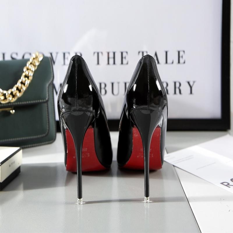 红色尖头鞋 潮女2021秋季欧美尖头女单鞋OL性感夜场高跟鞋细跟红色婚鞋工作鞋_推荐淘宝好看的红色尖头鞋