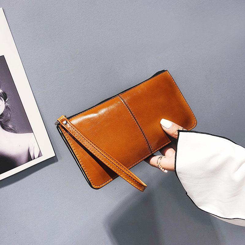 拉链手拿包 2020新款韩版女士长款钱包女拉链钱夹韩版大容量手拿包手机包卡包_推荐淘宝好看的女拉链手拿包