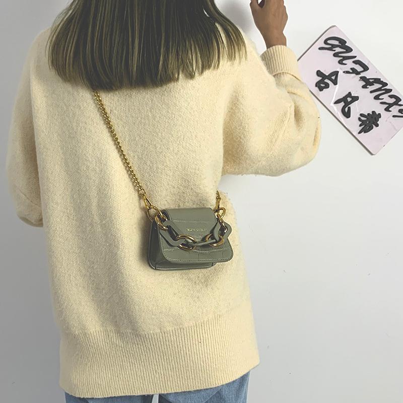 链条包 迷你小包包女2021新款韩版洋气链条手机小方包时尚百搭斜挎手提包_推荐淘宝好看的女链条包