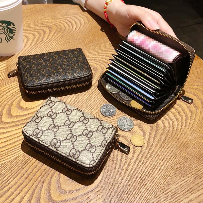 新款古驰钱包 2020新款风琴卡包信用卡套女士小零钱包潮欧美拉链卡片包女式卡夹_推荐淘宝好看的女新款古驰钱包