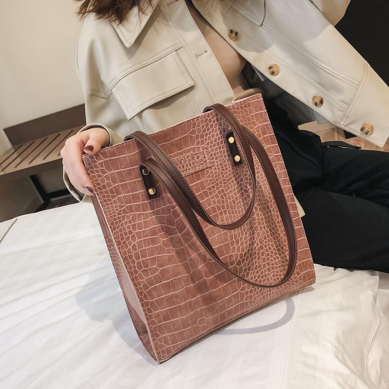 欧美时尚手提包 大包包2021皮包新款女包欧美复古公文包时尚手提包简约单肩包潮包_推荐淘宝好看的女欧美手提包