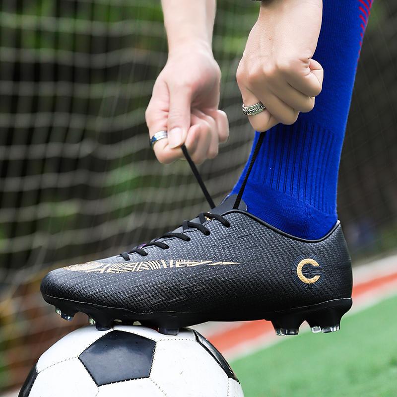 足球鞋 小李子刺客12AG长钉足球鞋梅西C罗CR7男女小学生TF碎钉比赛训练鞋_推荐淘宝好看的男足球鞋
