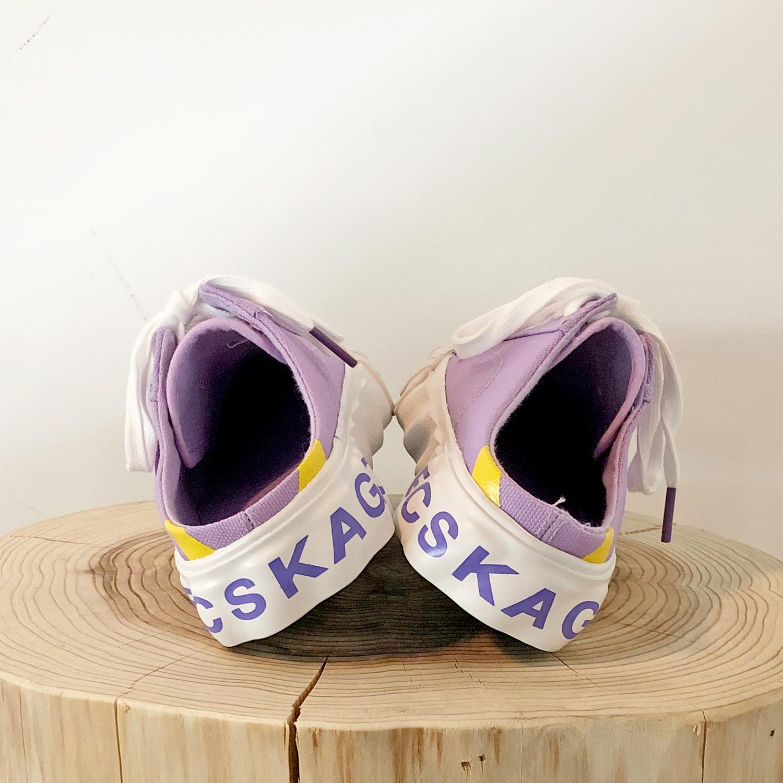 紫色平底鞋 夏季紫色半拖帆布鞋女百搭学生透气无后跟平底一脚蹬懒人鞋饼干鞋_推荐淘宝好看的紫色平底鞋