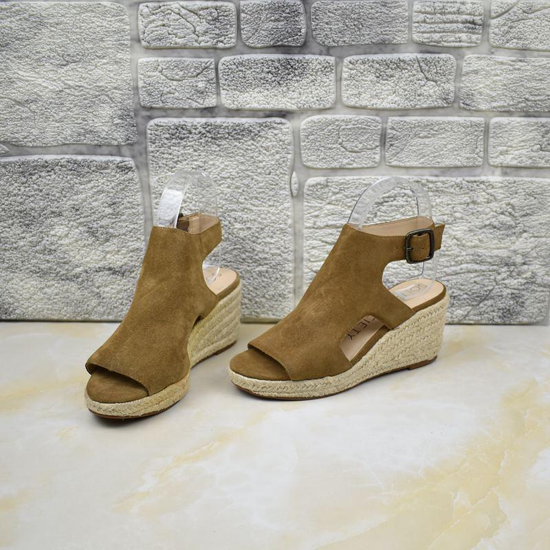 罗马坡跟鞋 外贸女鞋真皮坡跟防水台脚腕皮带扣夏季性感罗马凉鞋_推荐淘宝好看的罗马坡跟鞋