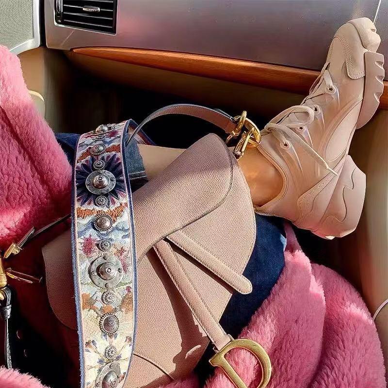 欧美松糕鞋 SOOJII 欧美街拍款厚底鞋松糕鞋裸粉色运动鞋休闲鞋帆布老爹鞋女_推荐淘宝好看的女欧美松糕鞋