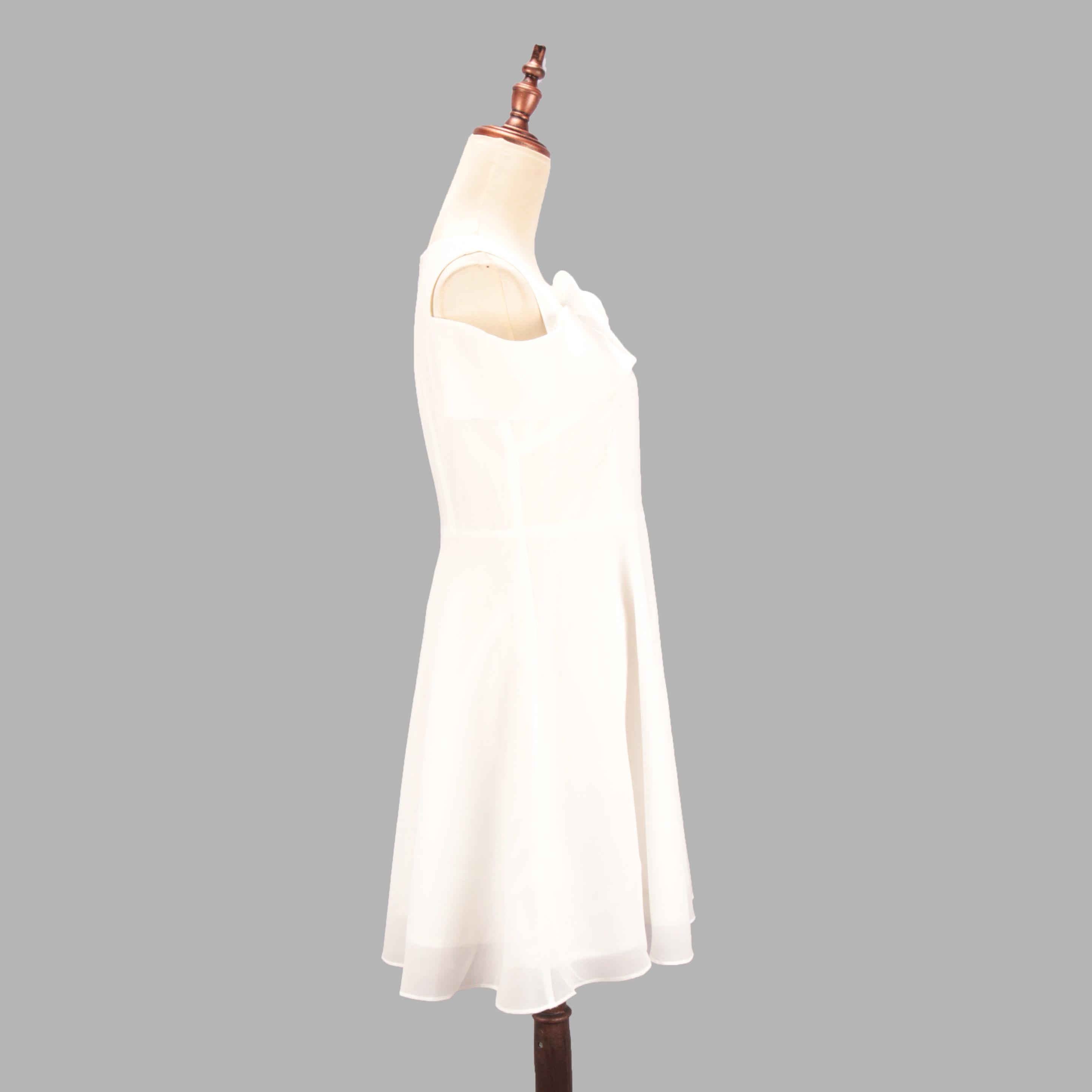 朵以雪纺连衣裙 Duoyi朵以2019夏装新款露肩性感修身雪纺连衣裙女包邮_推荐淘宝好看的朵以雪纺连衣裙