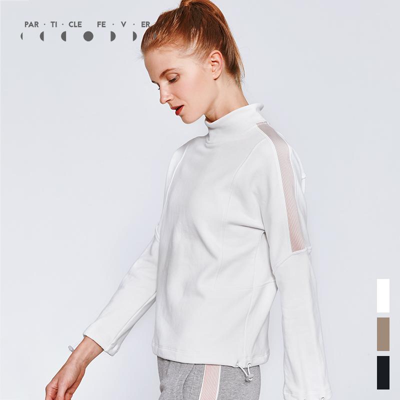 运动套头卫衣 粒子狂热PF运动卫衣女士变色织带拼接直身立领针温暖套头运动外套_推荐淘宝好看的女运动套头卫衣
