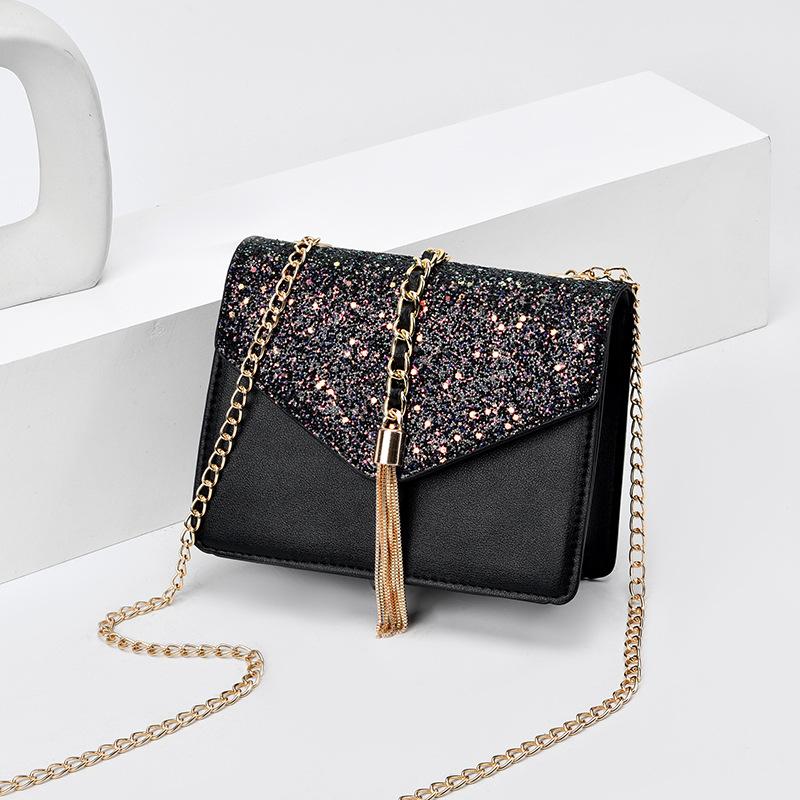 粉红色链条包 MAKU2020新款时尚斜挎包星空单肩 链条小方包_推荐淘宝好看的粉红色链条包