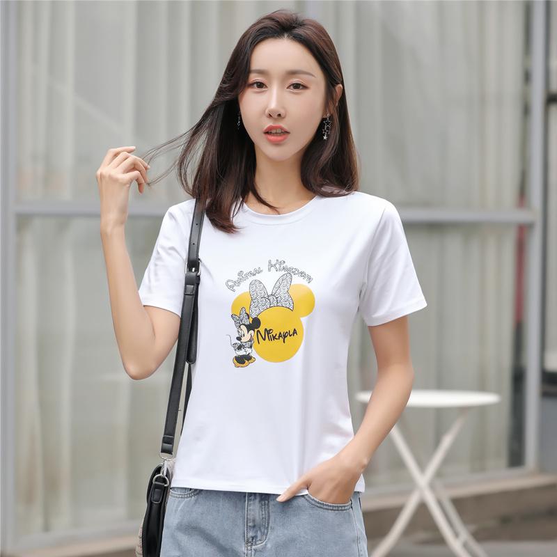 白色T恤 黑白色短袖t恤女2021年新款夏季穿搭大码体恤宽松纯棉质感上衣_推荐淘宝好看的白色T恤