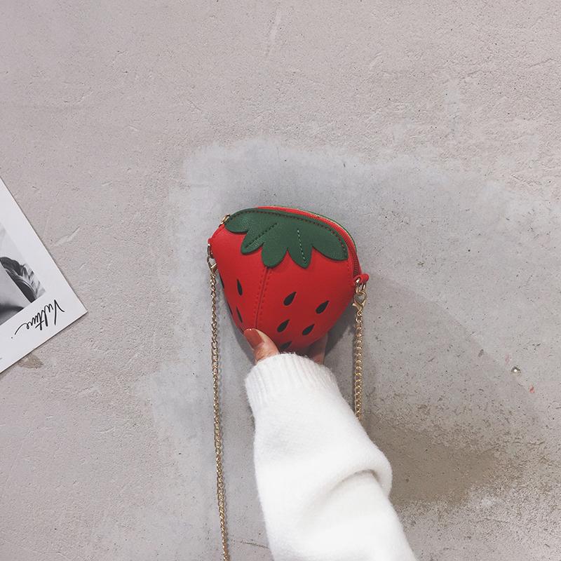 绿色链条包 法国小众包包女2019新款日系百搭斜挎包可爱草莓包时尚迷你链条包_推荐淘宝好看的绿色链条包