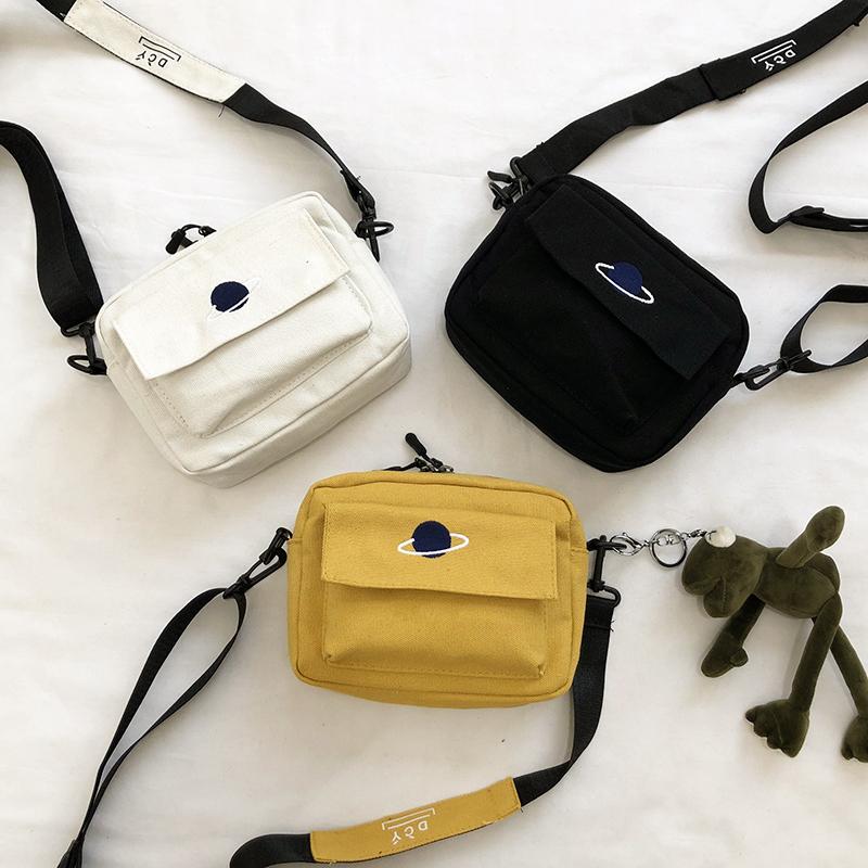 黄色斜挎包 上新小包包女包夏天小清新2020新款韩版百搭学生帆布袋ins斜挎包_推荐淘宝好看的黄色斜挎包
