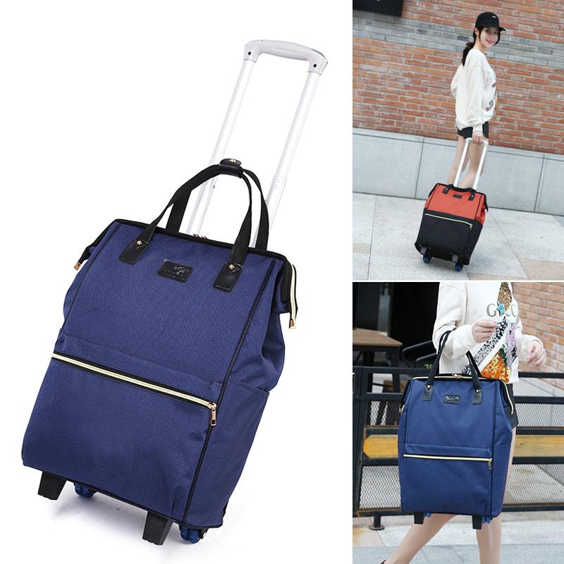 紫色手提包 新款韩版行李包女拉杆旅行包轻便大容量流行学生手提行李袋拉杆包_推荐淘宝好看的紫色手提包