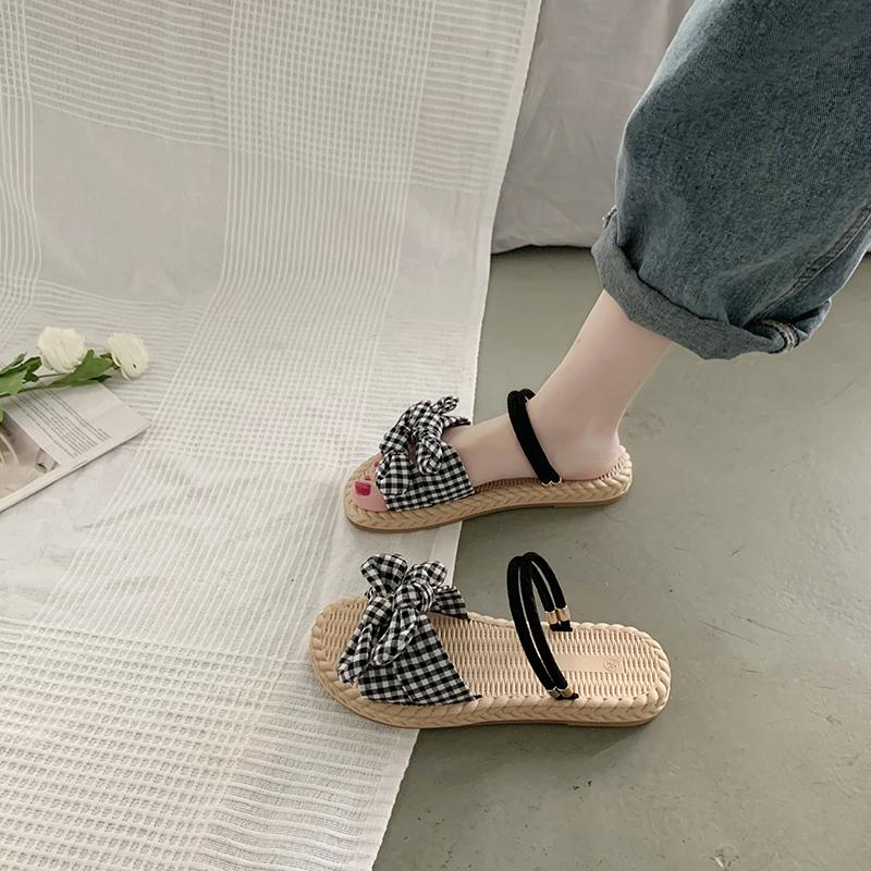 2017新款平底鞋排行 网红凉拖鞋女外穿2021年新款夏天时尚ins潮懒人平底可湿水沙滩鞋_推荐淘宝好看的女新款平底鞋