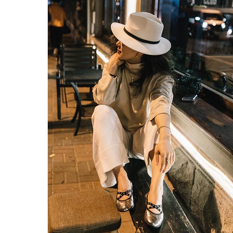圆头时尚平底鞋 ECHIZA2021春夏新款圆头芭蕾舞绑带鞋女时尚百搭真皮单鞋女平底_推荐淘宝好看的女圆头时尚平底鞋
