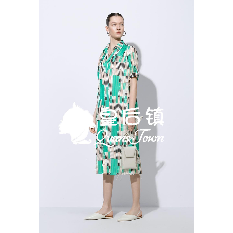 玛丝菲尔代购 国内代购 玛丝菲尔2020夏新款专柜正品 收腰连衣裙女 A1AY22746_推荐淘宝好看的玛丝菲尔代购