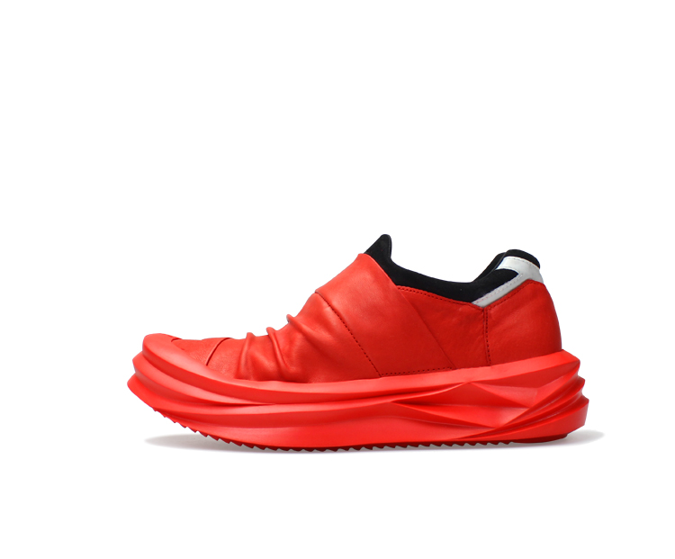 红色松糕鞋 Hk Shaka夏季原创青年百搭头层牛皮红色潮松糕厚底运动休闲男鞋_推荐淘宝好看的红色松糕鞋