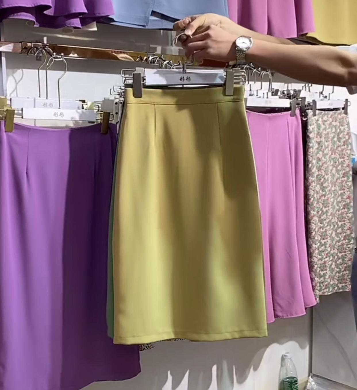 半身裙 2020新款港风直筒西装半身裙高腰后开叉一步包臀裙a字中裙ins潮_推荐淘宝好看的半身裙