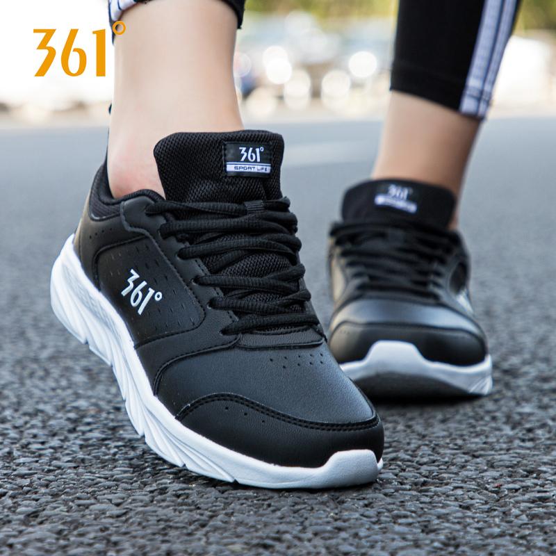 361度女士运动鞋 361女鞋运动鞋夏季361度皮面正品休闲鞋子防水透气品牌断码跑步鞋_推荐淘宝好看的女361度女运动鞋