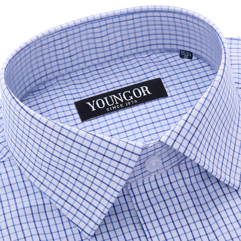 男装衬衫 雅戈尔长袖衬衫男正装白色宽松免烫衬衣中年职业商务大码工装男_推荐淘宝好看的男衬衫
