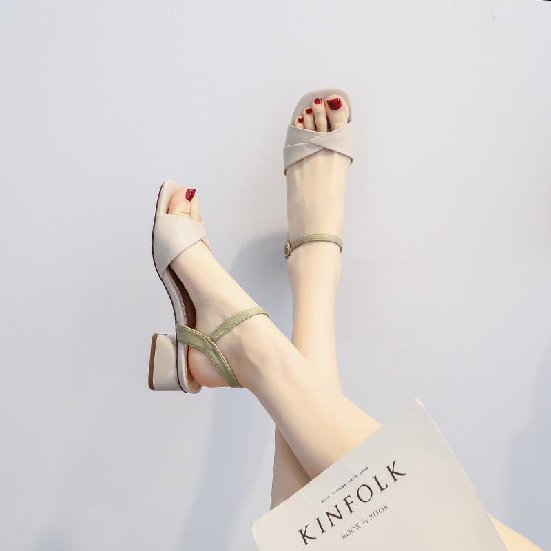 紫色罗马鞋 绑带低跟细带紫色系带ins罗马鞋海边夏日外出高级感小众凉鞋好看_推荐淘宝好看的紫色罗马鞋