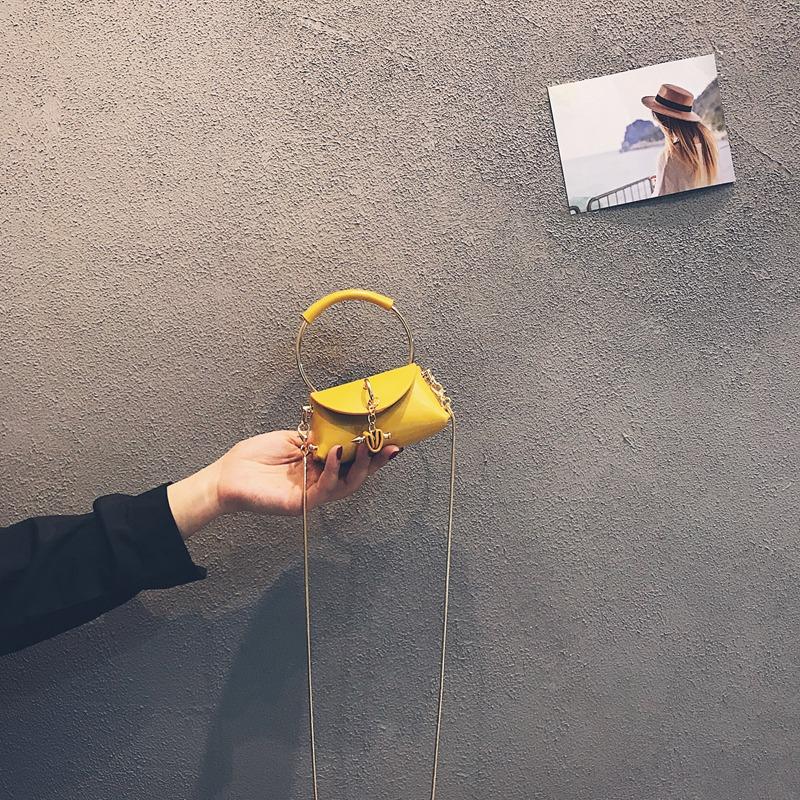 黄色钱包 上新迷你小包包2020新款潮洋气质感斜挎链条包个性百搭网红零钱包_推荐淘宝好看的黄色钱包