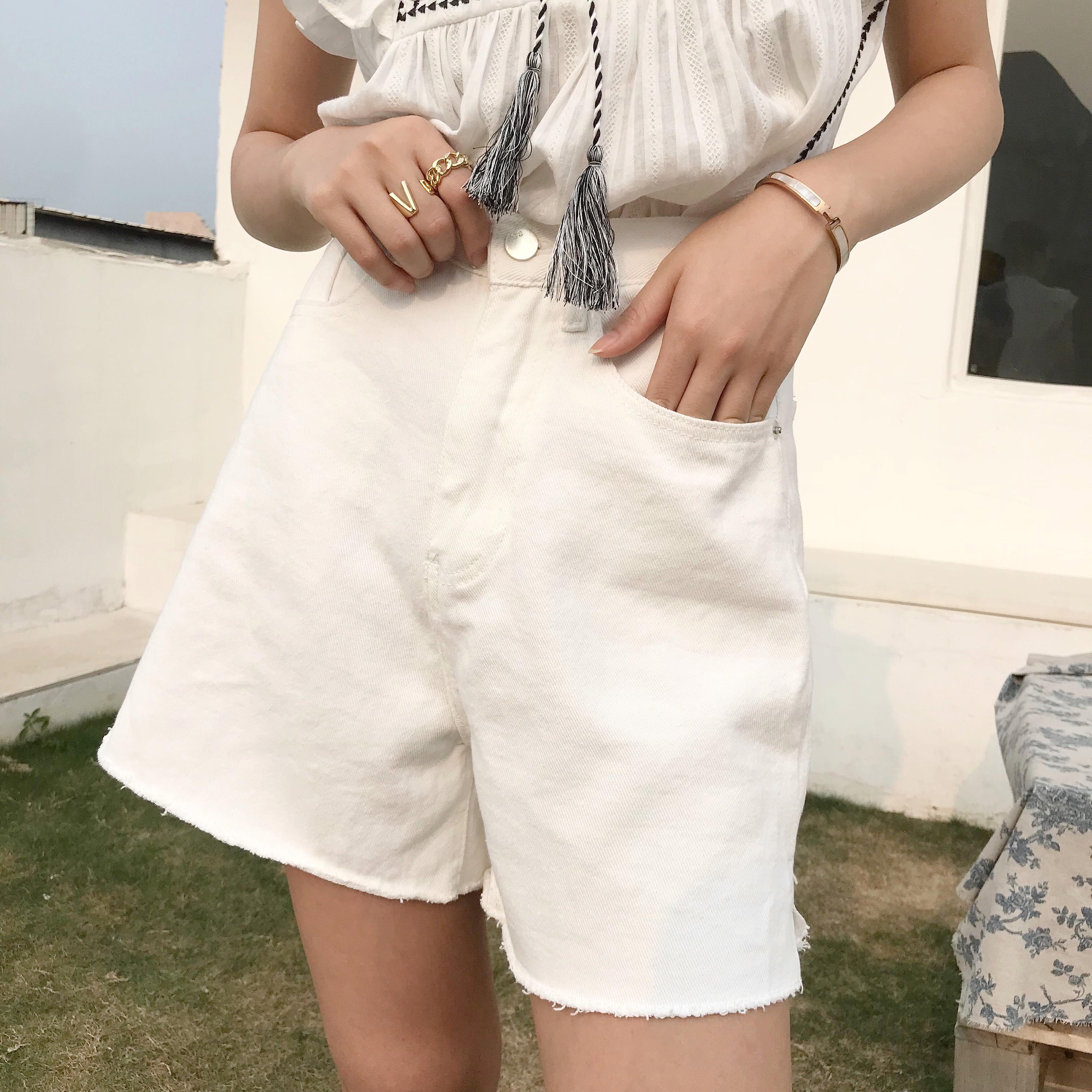 牛仔短裤 2020 Davida 女装牛仔休闲短裤 DS0315_推荐淘宝好看的女牛仔短裤