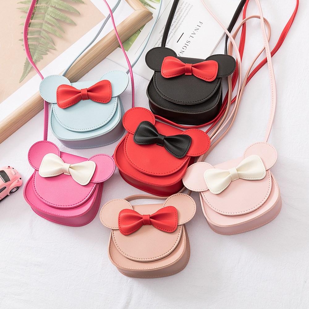 粉红色迷你包 2021春夏新款韩版时尚粉红色儿童斜挎单肩包公主可爱卡通迷你包_推荐淘宝好看的粉红色迷你包