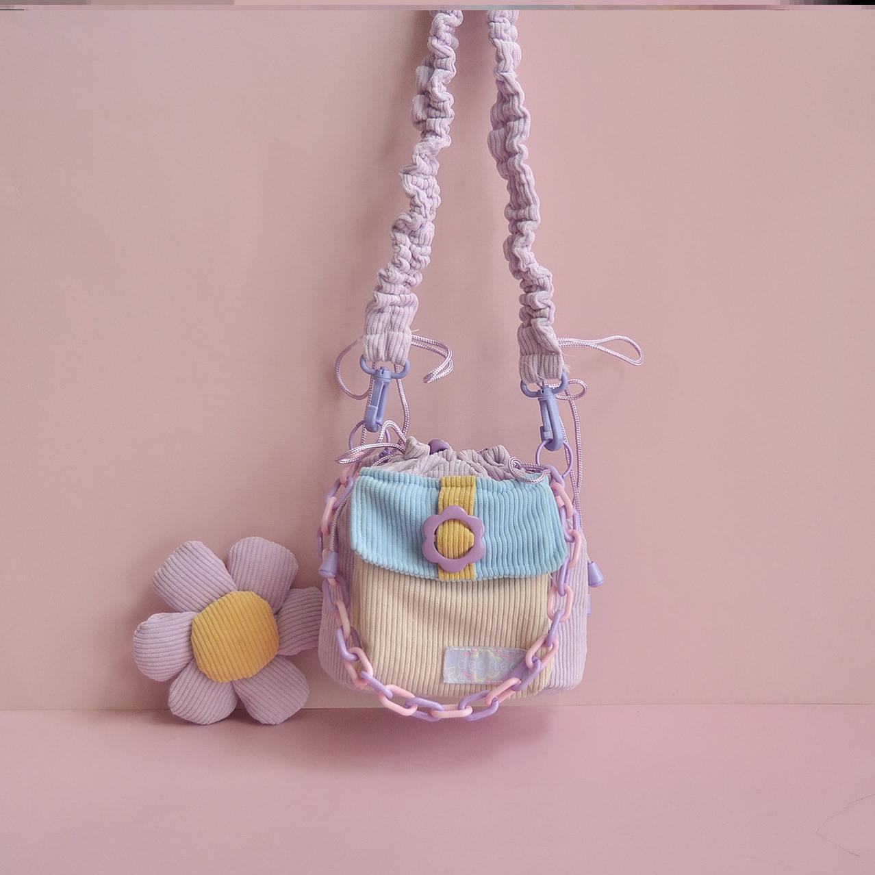 紫色水桶包 单肩包女春款紫色挎包女水桶包2021新款包包可爱日系单肩包女斜挎_推荐淘宝好看的紫色水桶包