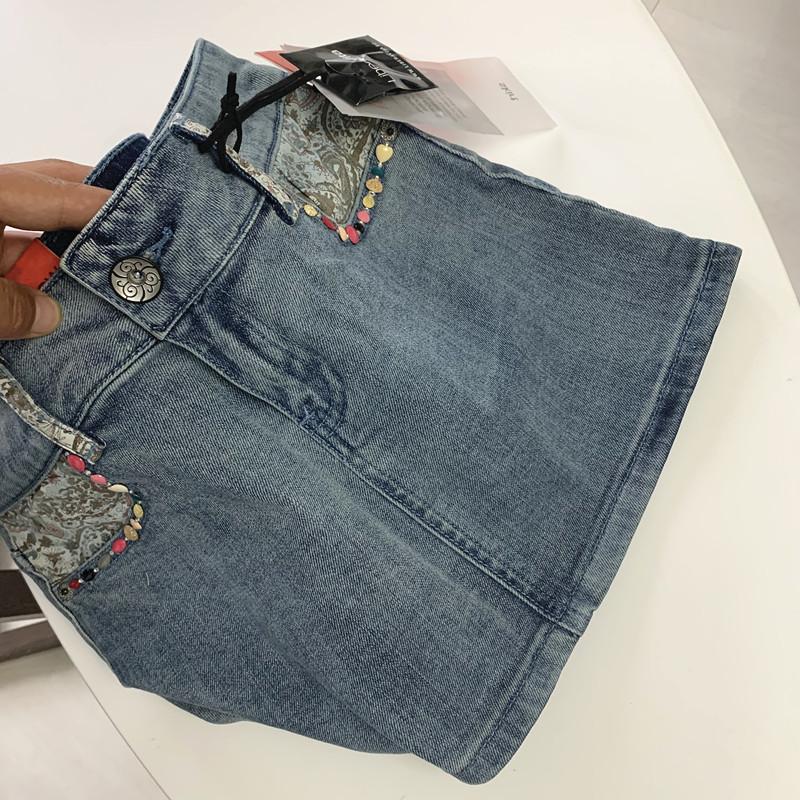 牛仔半身裙 特  西班牙订单 手工  牛仔半身裙 50_推荐淘宝好看的牛仔半身裙