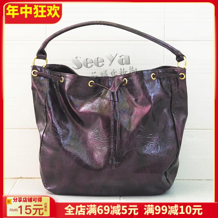 紫色水桶包 原D化妆包亚诗兰黛紫色手拎挎包EL可背时装包两用水桶包_推荐淘宝好看的紫色水桶包