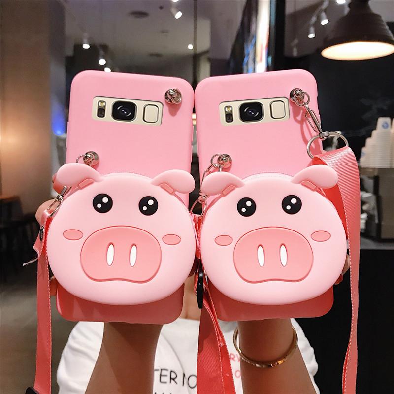 粉红色钱包 三星s7edge手机壳sm-G9350粉红色小猪smg935f带零钱包s7935o曲屏_推荐淘宝好看的粉红色钱包