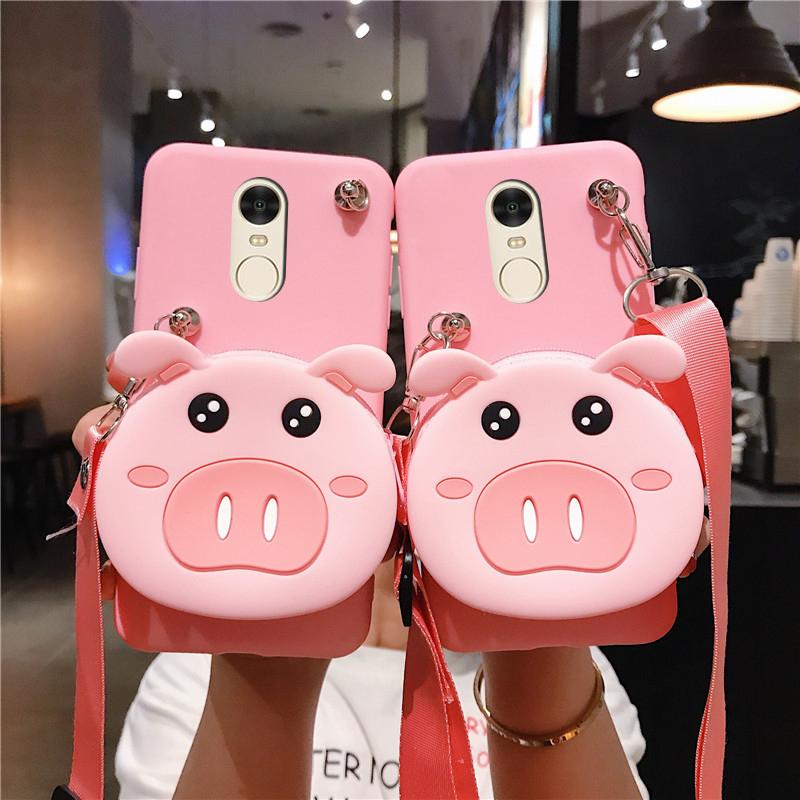 粉红色钱包 适用小米红米5plus手机壳MEE7零钱包Redmi 5puls粉红色小猪Met7软_推荐淘宝好看的粉红色钱包