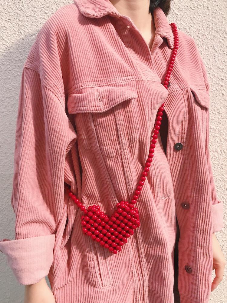 红色迷你包 红色爱心串珠包时尚百搭亲子小包女斜挎编织包百搭迷你零钱口红包_推荐淘宝好看的红色迷你包