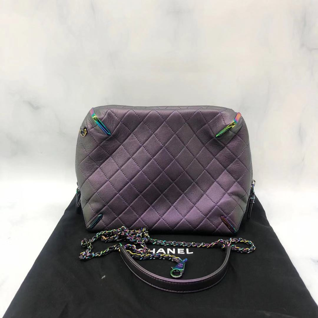 chanel链条包 香奈儿 CHANEL 紫色链条包 G02199 00547_推荐淘宝好看的chanel链条包