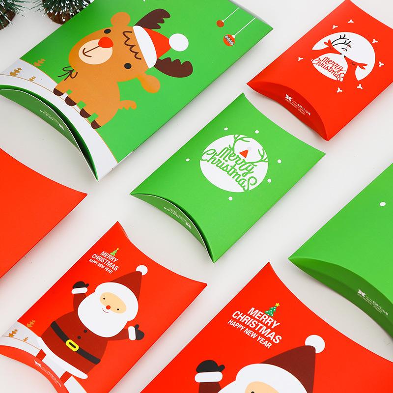 绿色糖果包 纸圣诞节礼品盒糖果创意枕头包绿色大_推荐淘宝好看的绿色糖果包