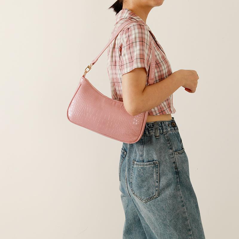 复古包 【韩囧】包包2020新款潮复古鳄鱼纹腋下包法棍包手提包女手拎包_推荐淘宝好看的女复古包