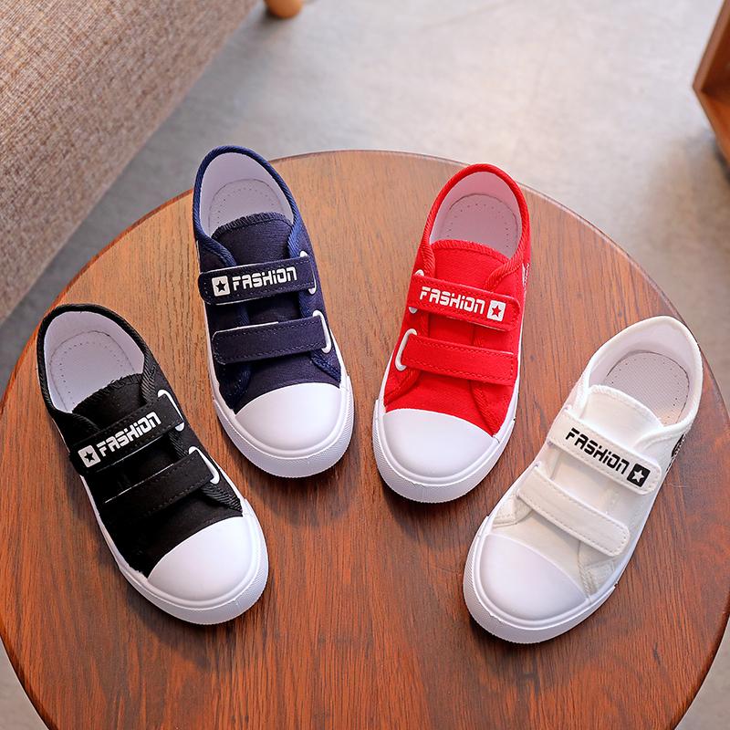 纯色帆布鞋 2021春秋儿童帆布鞋男女童鞋子白色板鞋低帮纯色休闲单鞋小白球鞋_推荐淘宝好看的女纯色帆布鞋