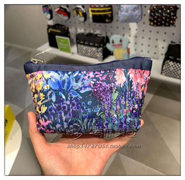 紫色手拿包 lesportsac乐播诗2724-F689手拿包化妆包 紫色油画_推荐淘宝好看的紫色手拿包