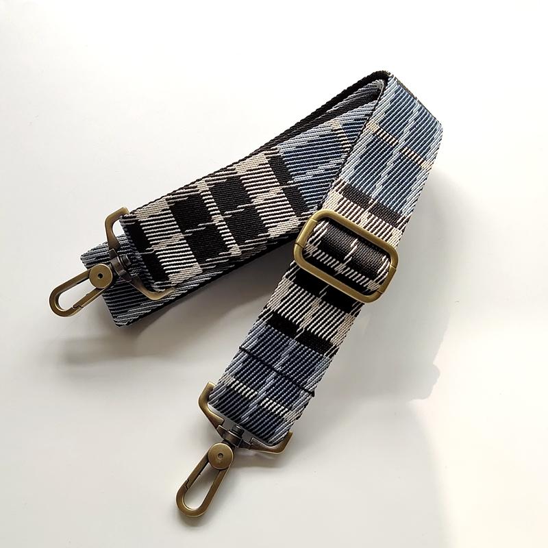 英伦帆布包 男包女包包带加厚斜挎帆布包带英伦格子3.8厘米宽斜挎背带包邮_推荐淘宝好看的女英伦帆布包