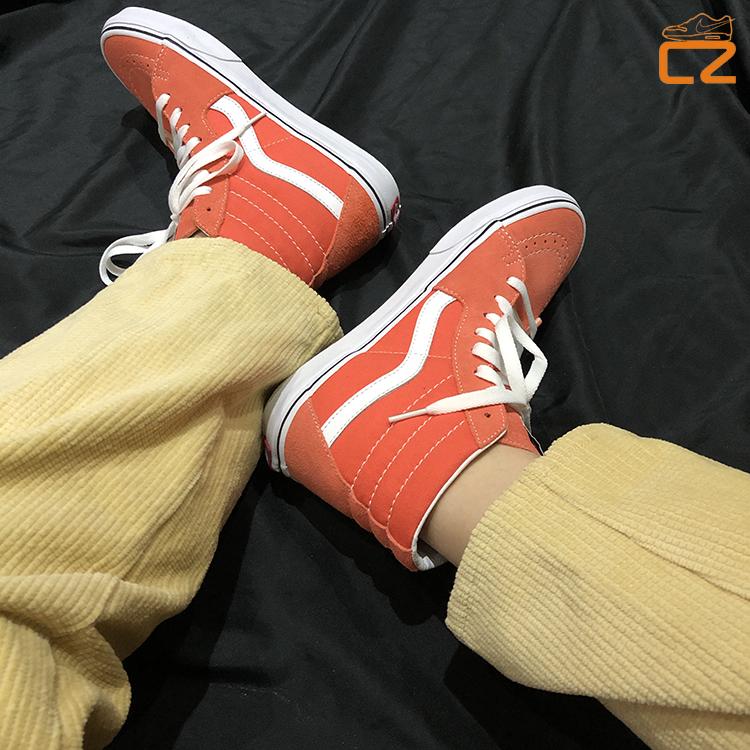 紫色帆布鞋 vans sk8-hi 橘色 墨绿色 灰色 紫色 蓝色 经典款男女高帮帆布鞋_推荐淘宝好看的紫色帆布鞋