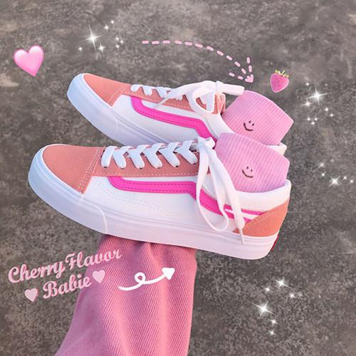 低帮帆布鞋 2020春夏新款脏橘色桃子粉色帆布鞋子女橙色百搭学生低帮板鞋男鞋_推荐淘宝好看的女低帮帆布鞋