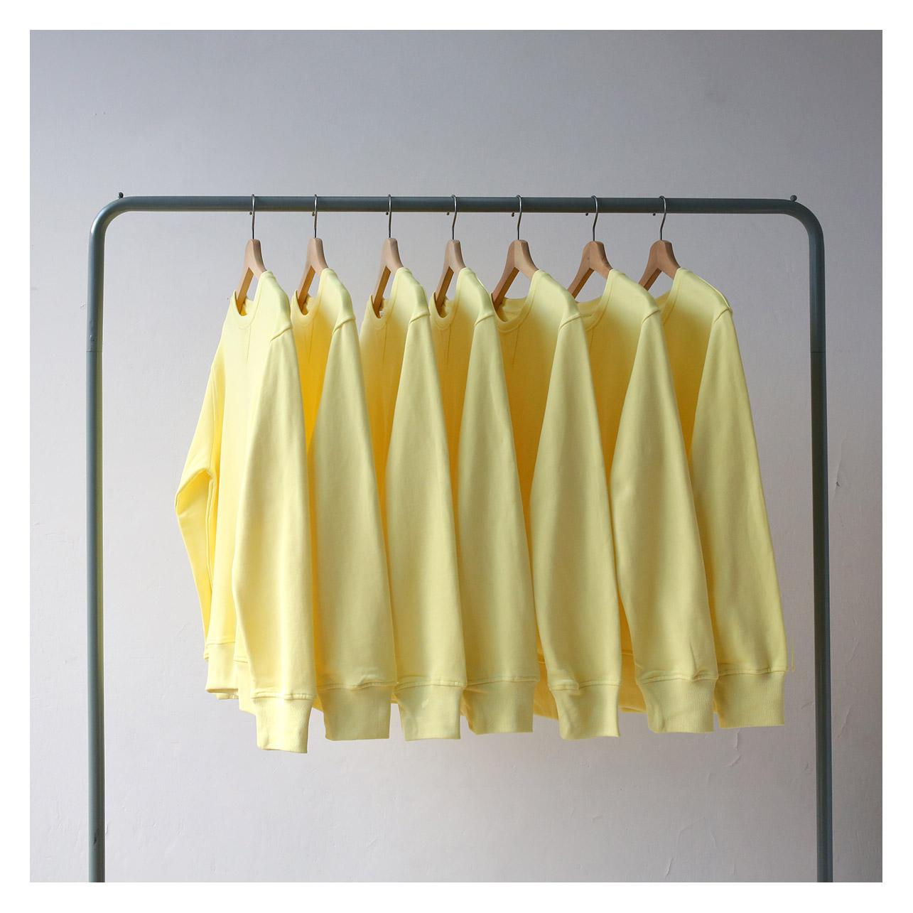 黄色卫衣 320克纯棉毛圈鸢尾黄小鸡黄婴儿浅黄色套头圆领卫衣男 女bf风宽松_推荐淘宝好看的黄色卫衣